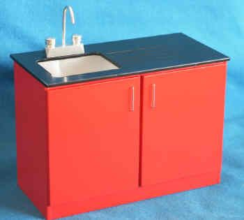 Sink Unit with Mixer Taps