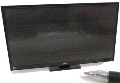 Black HD TV on stand  - M244