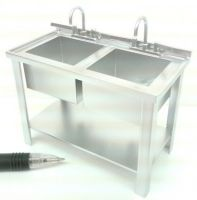 M245 'Stainless Steel' Double Prep Sink