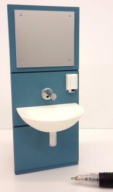 Wall Mounted Handwash Basin Unit in Blue - M266B