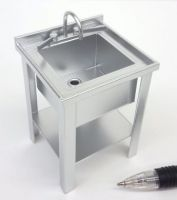 'Stainless Steel' Sink - Single with Elbow Taps - M279