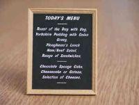 Food Pub Menu Blackboard - M28