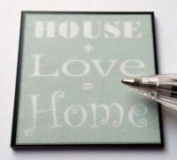 House+Love=Home Wall Plaque - M288