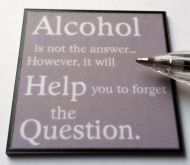 Wall plaque - Alcohol is not the Answer...- M289