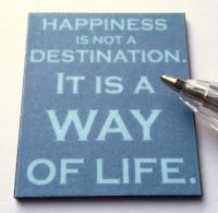 M291 Happiness is not a Destination Wall Plaque