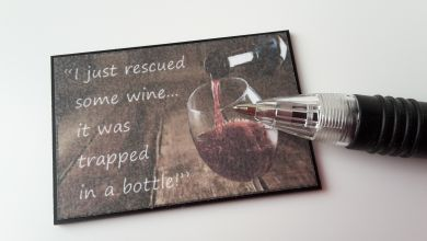 Wall Plaque - I just rescued some wine...- M311