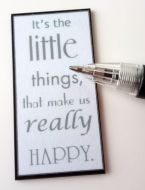 Wall Plaque - It's the little things - M312
