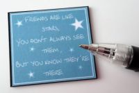 Wall Plaque - Friends are like stars - M314