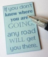 Quotation Wall Plaque - If you don't know where... - M329