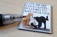 Quotation Wall Plaque - Cats are like chocolates... - M331