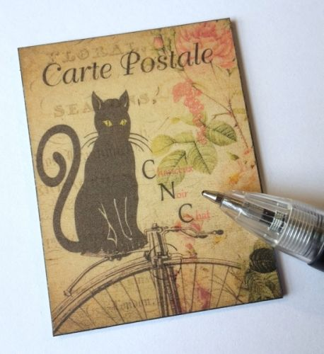 Quotation Wall Plaque - Vintage Cat Postcard