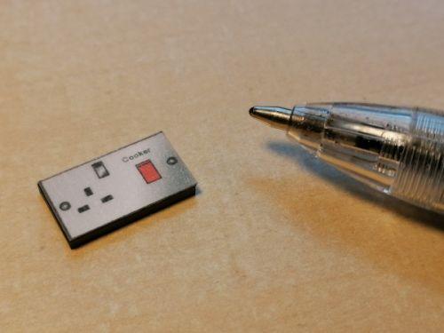 Cooker Switch & Socket - 'Metal' look - M344