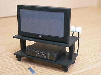 Wide Screen TV and Video On Stand - M40