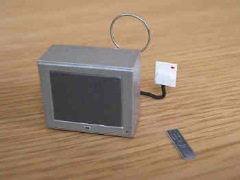 Portable TV  silver finish