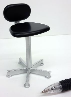Therapists Chair in Black and Silver - M75BS