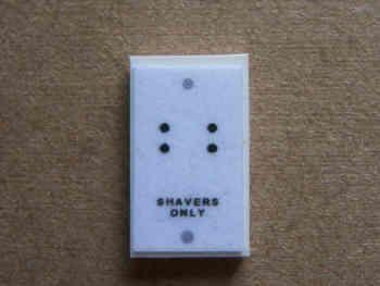 Shaver Socket - White - M98