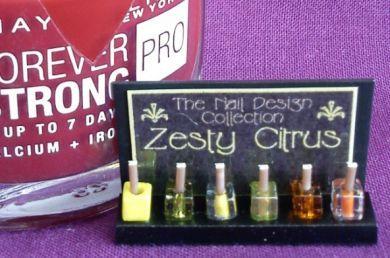 Nail Varnish Display - Zesty Citrus - HD50