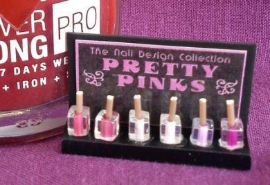 Nail Varnish Display - Pretty Pinks - HD51