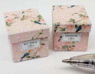 Birds Patterned Storage Box - O54Birds