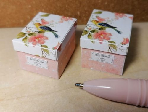 O54 Birds on White - Storage Box