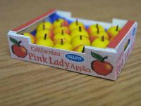 Pink Lady Apples in printed carton