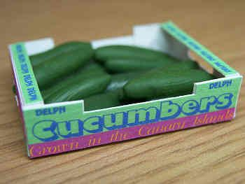 Cucumbers in printed carton