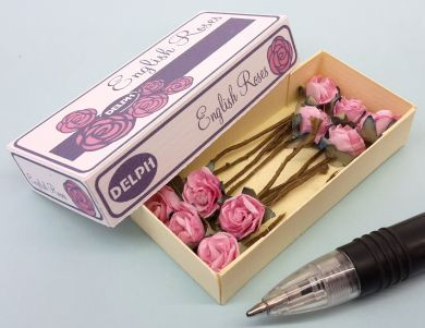 Printed Carton of English Roses in Pink