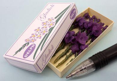 Gladioli in Printed Carton - Mauve Gladioli   - PC250M