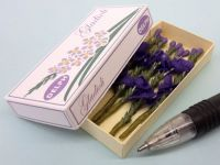 Printed Carton of Purple Gladioli