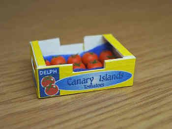 Canary Tomatoes in printed carton