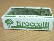 Broccoli in printed carton