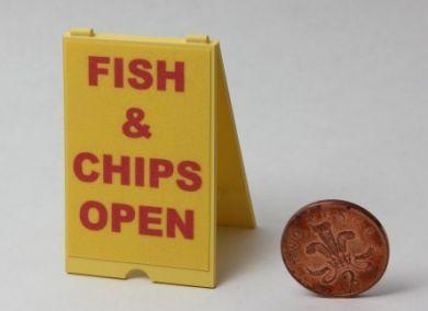 Fish & Chip Shop Open 'A' Board - FC11