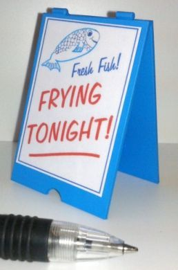 Fish and Chip Shop 'A' Board Frying Tonight - FC30