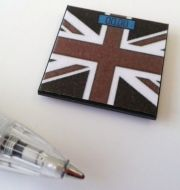 Bathroom Scales Union Jack Black - M220B