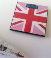 Bathroom Scales Union Jack Pink