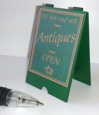 Antiques Shop A Board  - Green and Gold - S110G