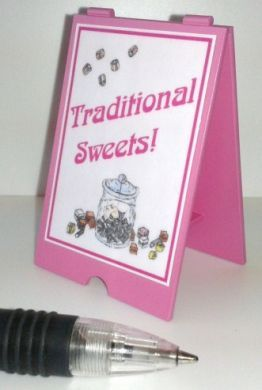 Sweet Shop 'A' Board Traditional Sweets -S115