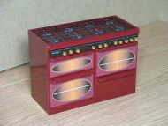 Cooking Range in Ruby Red