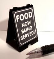 FOOD NOW BEING SERVED 'A' Board - S126