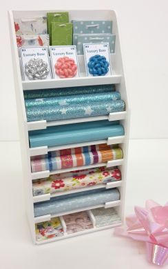 S129Pale Blues Gift Wrap Display Stand
