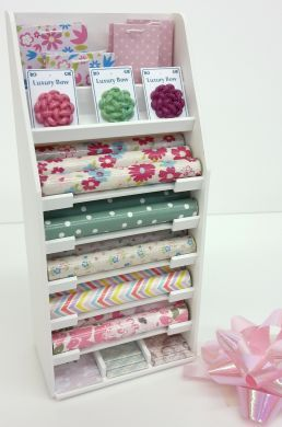 Gift Wrap Display Stand - Pink & Green Pastels - S129 PINK GREEN