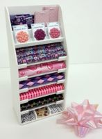 S129Purple & Pink Gift Wrap Display Stand