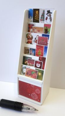 Greetings Card Display Stand Filled with Christmas Cards