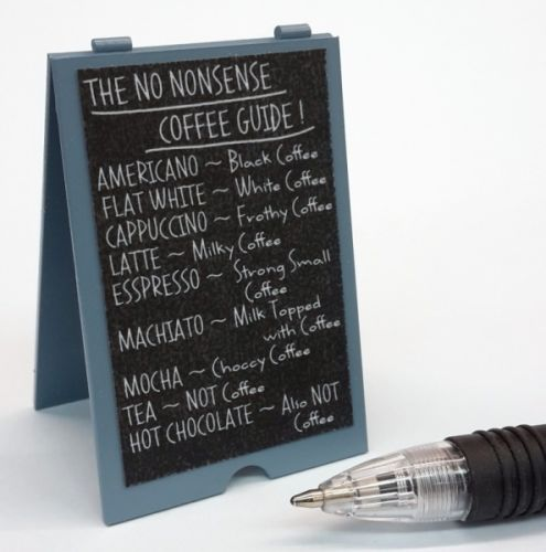 Coffee Shop 'A' Bd - No Nonsense Coffee Guide - S134