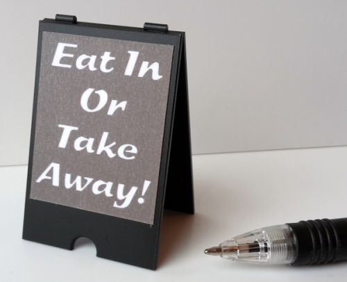 Eat In or Take Away - 'A' Board - S135
