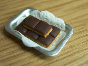 Caramel Shortcake slices in tray