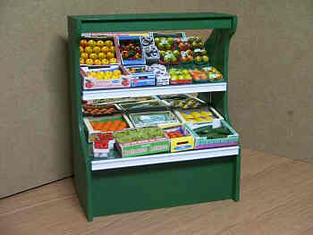 Greengrocery Display - Mirrored complete with Contents - S38MS
