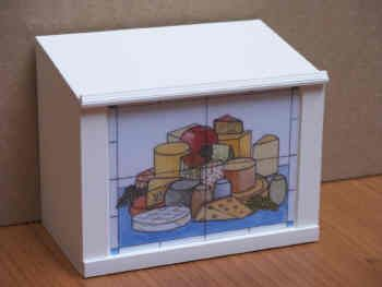 Deli Display Counter - Cheese 'Tile' Panel Front - S68