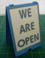 'A' Board Sign - We are open